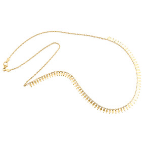 """14K Yellow Gold Fancy Cable Chain 9mm Designer Statement Italian Necklace 18"""""""