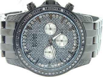 MENS JOJINO/JOJO/JOE RODEO BLACK DIAMOND WATCH CURSH DIAL 2.25 CT 46MM PJ1170