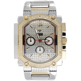 Mens Diamond Watch Aqua Master Jojo Jojino Joe Rodeo Two Tone 0.25 Ctw. W#323