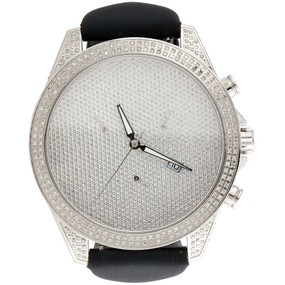 Mens Joe Rodeo / Arctica Real Diamond Watch Glory Case 47mm Illusion Dial 3 CT.
