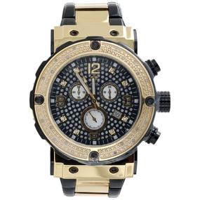 Mens Aqua Master Jojino Diamond Watch 45mm Black Stainless Steel W#146 0.25 Ct.