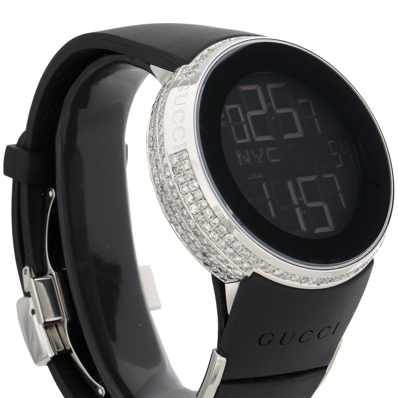 2db9a23a0ec ... Gucci Diamond White Watch Mens Full Casing YA114202 5 Row Custom Digital  3.5 CT. Image 1