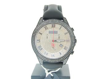 Mens Brand New Joe Rodeo/JoJo Glory Black 416 Diamond Watch w/side casing 4 ct.