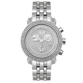 Men's Diamond Watch Joe Rodeo Classic JCL15 1.75 Ct Illusion Dial Chronograph