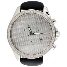 Mens XL Arctica Glory Diamond Watch Full Illusion Dial 47mm Joe Rodeo   1.50 CT.