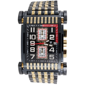 Mens Diamond Watch Aqua Master Jojo Jojino Joe Rodeo Two Tone 0.25 Ct W#330