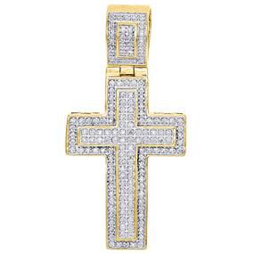 .925 Sterling Silver Mens Real Diamond Mini Micro Jesus Face Pendant Charm 1.40