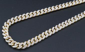 Genuine Diamond Miami Cuban Chain 3 Ct. 10K Yellow Gold 6.25mm 26 Inch Necklace