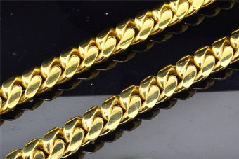 10K Super Solid Heavy Yellow Gold Miami Cuban Link Chain Necklace