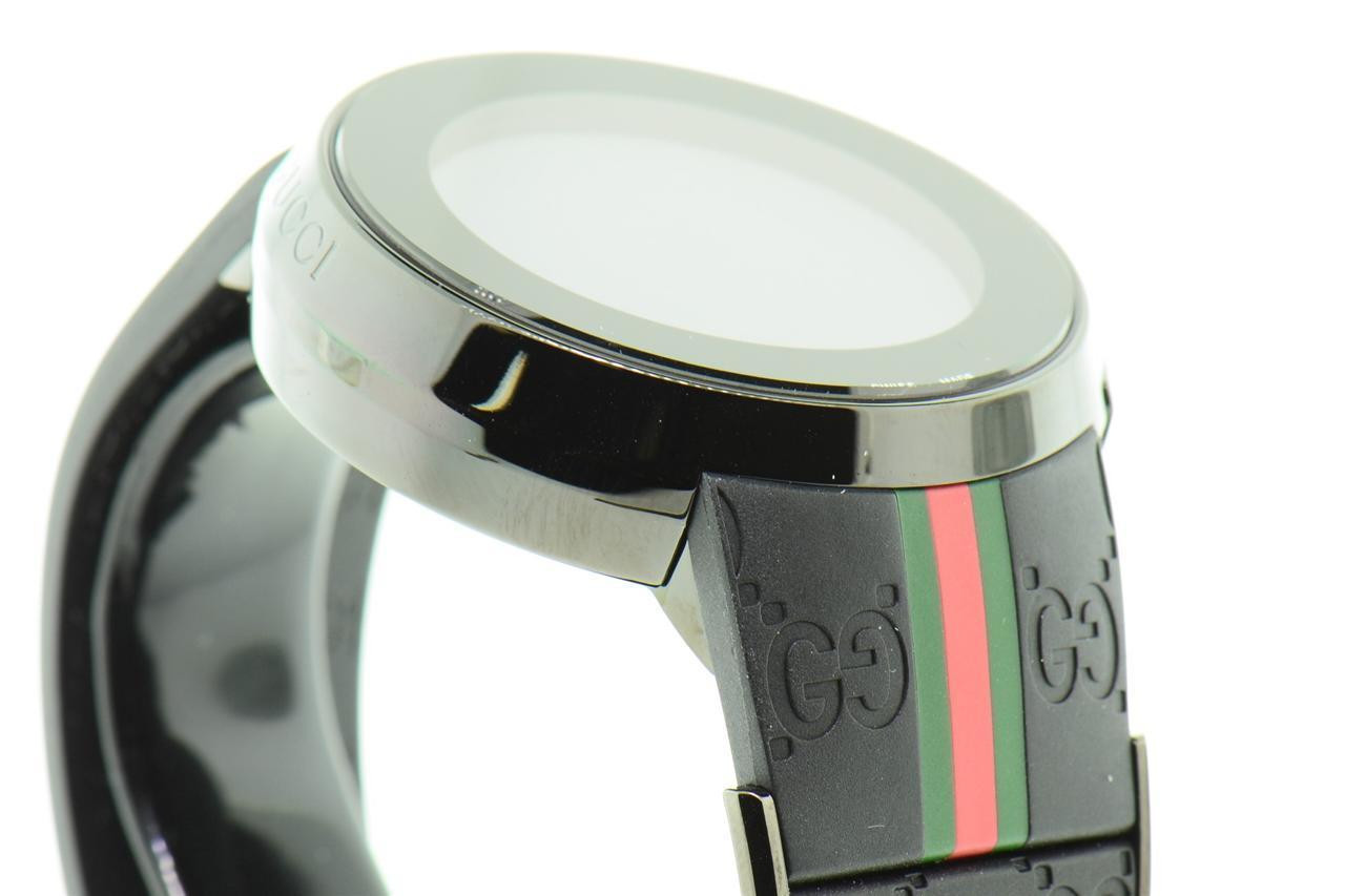 dcbe5f5db80 ... Gucci Watch Mens I-Gucci Collection Black Rubber Strap 44mm YA114207.  Image 1