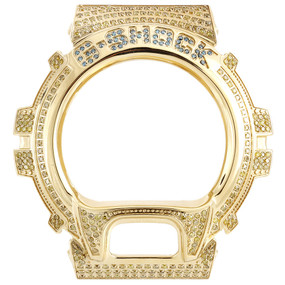 Real Yellow Diamond Watch Case For Casio G Shock Custom Casing 6900 Model 2.5 Ct