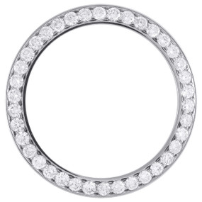 Round Diamond 10 Points Bead Set Bezel To-Fit 41mm Rolex DateJust II 3.80 CT.