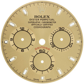 Factory Original Men's Rolex Daytona 40mm Champagne Stick Dial Ref. # 116503