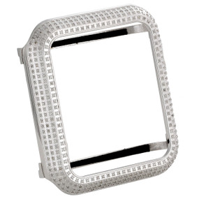 Apple Watch Stainless Steel Genuine Diamond Case 42MM Sport Bezel 2.50 Ct.