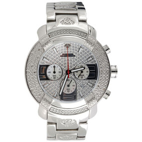 Mens Diamond Watch Aqua Master Jojo Jojino Joe Rodeo Illusion Dial .20 Ct W#96-W