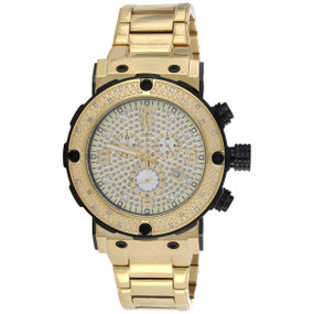 Mens Aqua Master Joe Rodeo Yellow Steel Diamond Watch 45mm Illusion Dial 0.20 CT