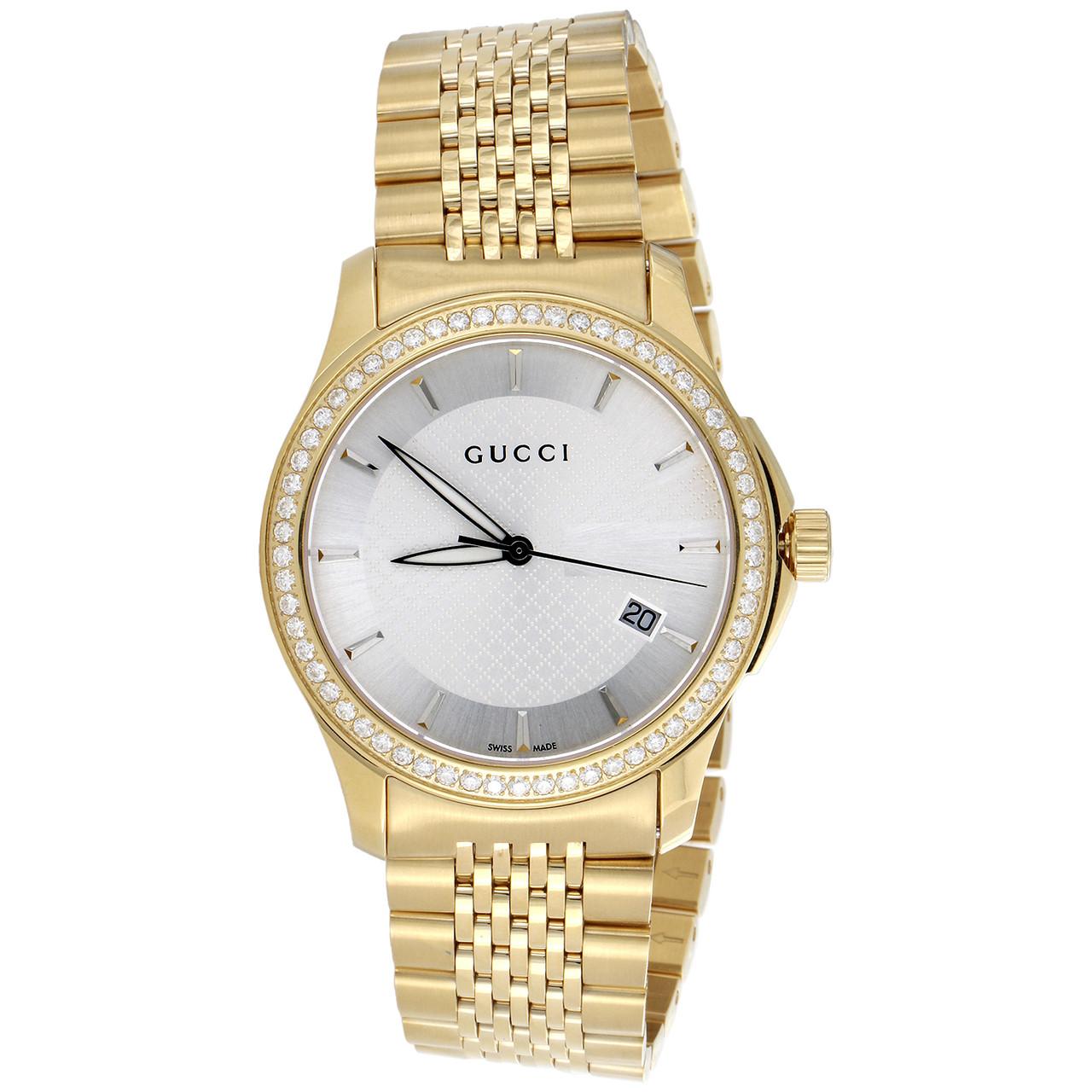 099b4147a82 ... Gucci Ya126402 Diamond Watch White Dial G Timeless 38mm Gold PVD Steel  1.75 CT. Image 1