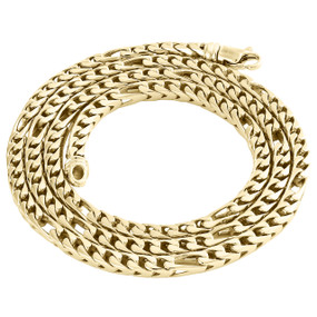 10K Yellow Gold 4.10mm Solid Figaro Franco Link Chain Italian Made Necklace 24""
