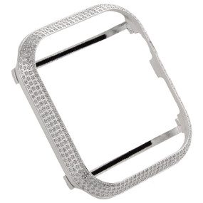 Apple Watch Series 4 Stainless Steel 44mm Sport Genuine Diamond Case 1.50 CT.