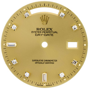 Original Round & Baguette Diamond Rolex Day-Date 36mm Champagne Dial Ref.# 18038