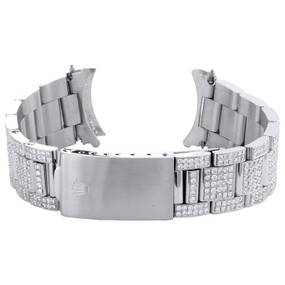 Mens Custom Diamond Oyster Watch Band to Fit 36mm Rolex DateJust Case 7.10 CT.