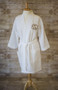 Monogrammed Waffle Weave Spa Robe