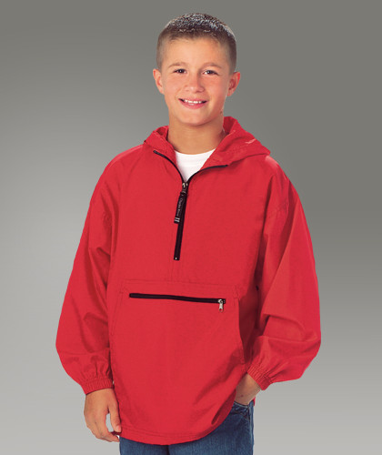 Red Pack-N-Go Pullover
