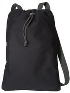 Black/Charcoal Drawstring Backpack