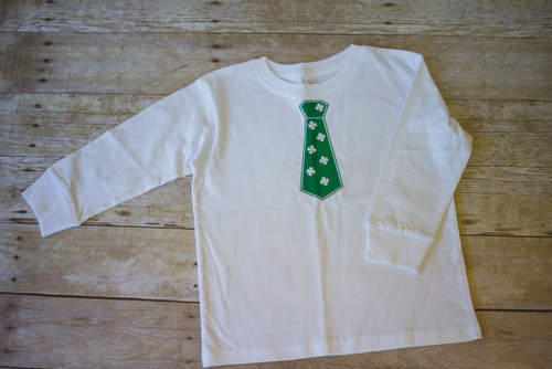 Youth T-Shirt with St. Patrick's Day Necktie in Vinyl