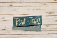 "Trust in Jesus Canvas 4"" x 12"""
