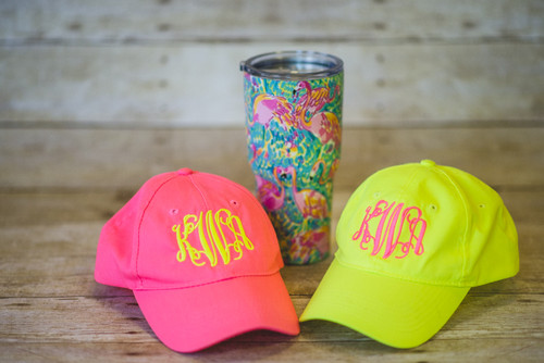 Neon Pink and Neon Yellow Cap