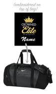 CROWNED ELITE DUFFLE BAG WITH EMBROIDERED LOGO