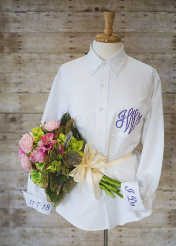 monogram bridal items