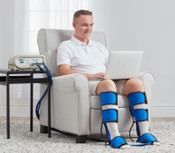Bio Arterial Plus One Pair of Sleeves Included, for Peripheral Arterial Disease (PAD) Pump System Relief, Compress Foot and Calf.