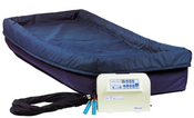 "Power-Turn Elite Lateral Rotation Therapy Mattress, Free Ship, with True Low Air Loss, Superior Pressure Ulcer System, Blue Chip 36""W x 80""L x 9""H, Bariatric  42'' and 48'' Wide Available."