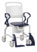 Bonn Shower and Commode Chair soft, durable polyurethane seat for comfortable seating, easy clean, No Tax, Free Ground USA Shipping Only,