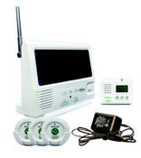 Wireless Central Monitoring System Starter Kit, includes Monitor, 3-Nurse Call Buttons, Pager, and A/C Adapter.  (433-SYS)