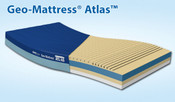 Span America Geo-Mattress Atlas 800 independent support cells, fluid proof cover, 3-year warranty, Heavy Duty solution for bariatric care up to 600Lbs. Shop Sizes.