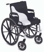 Short Wave Geri Cushion, Wheelchair Seat and Back Cushion, Removable Zippered Cover, Reduces Shear, Fluid-Repellant Cover, Wipes clean, Easy to Use.