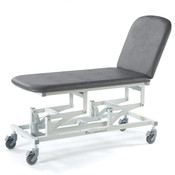 Examination Stretcher 2 Section Trolley fully adjustable backrest supports the patient for treatment or examination, In Stock.