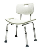 Knock-Down Bath Seat w/Back Lumex