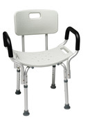 Lumex Bath Seat With Back & Arms Retail Unassembled,  3/Per Case