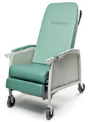 Lumex Three Position Geri Care Recliner for Extended Care Facility Residents Comfort, Swivel Casters, Choose your Color.