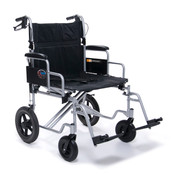 Bariatric Aluminum Transport Chair 24'' Wide  (400LB Weight Capacity.
