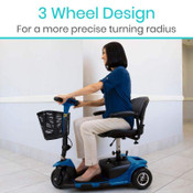 Vive Health 3 Wheel Mobility Scooter, Free Ship.