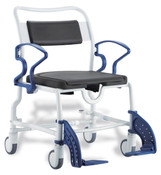 Dallas Bariatric Shower and Commode Chair by Rebotec, Free Ship, Soft Seat, Easy Clean,