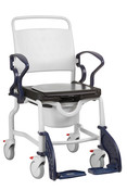Berlin Ergonomic Shower and Commode Chair by Rebotec, Soft Seat, Eay Clean, Free Ship.