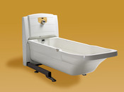 Height Adjustable Bathtub has Cleaning, Whirlpool, and Auto Fill Options Available, Free Truck USA Ground Shipping Included.