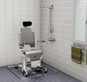 TR1000 Shower Chair Battery Operated  is Height and Tilt Adjustable