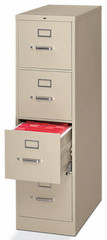 HON 4 Drawer Metal File Cabinet [H324] -1